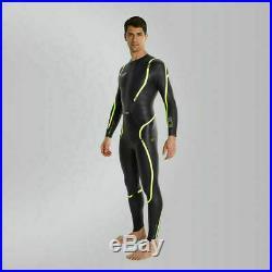 Speedo Mens Super Elite SE 16 Wetsuit, Extra Large Full sleeve. Black/Gold. NEW