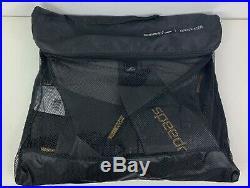 Speedo Mens XL Tri Elite FLSV Triathlon Wetsuit Black/Gold Full Sleeve NEW + Bag