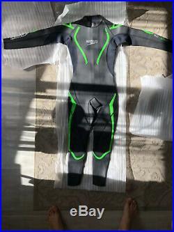 Speedo Tri Comp 16 ThinSwim Full Sleeve Wetsuit Black/Green Mens Small