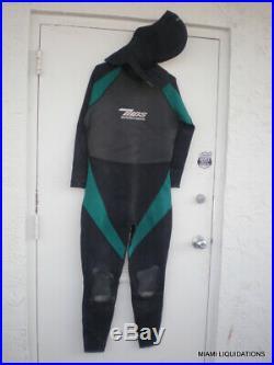 Tilos Hydro Gear 3mm Wetsuit Men Super Stretch Hooded Full Suit 2XL black/green