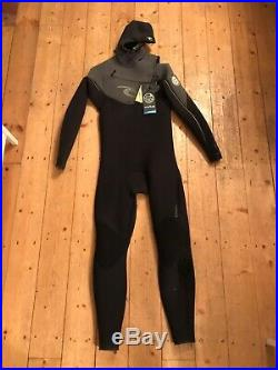 Used Rip Curl Mens Full Wetsuit Size XL E-Bomb Hooded 5.5/4.5