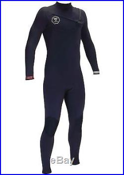 VISSLA Men's 2/2 SEVEN SEAS Chest-Zip Full Wetsuit BLK MS NWT