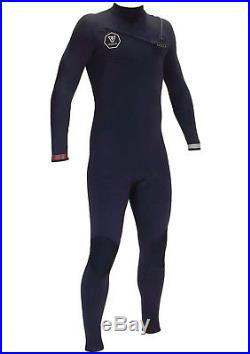 VISSLA Men's 2/2 SEVEN SEAS Chest-Zip Full Wetsuit BLK Size Large Tall NWT