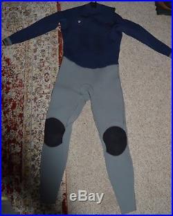 VISSLA Men's 3/2 SEVEN SEAS 50/50 Full Wetsuit Size XL Dark Blue/Grey