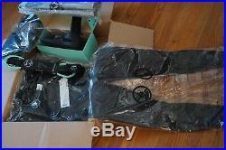 VISSLA Mens Medium 3/2 full wetsuit front zip BLACK W boots, tether, backpack, ++