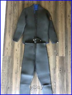 Vintage Aqua-Lung Mens US Divers Full Suit Dive Suit Scuba Diver Wet Suit THICK