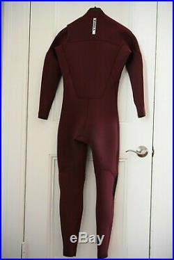 Vissla 7 Seas 4/3 Chest Zip Full Sleeve Wetsuit, MS, Medium Short, Burgundy