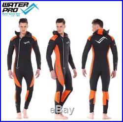 Water Pro Men Women Long Sleeve Zipper 5mm Full Body Diving Suit Wetsuit