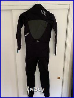 West Black Wetsuit Chest Zip Over Neck 3/2 Mens Neoprene Full Retail $180
