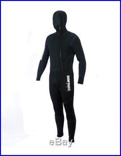 Wetsuit 5mm Sopras Sub Amalfi Men Hooded Jumpsuit Scuba Diving Hood Full Suit