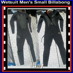 Wetsuit Men's Small BILLABONG 3mm Full Suit Inside Neck Batwing Top Quality