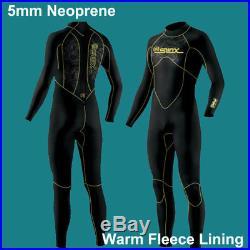 Wetsuits Premium Neoprene Wet Suit Full Body With Warm Fleece Lining Diving 5mm