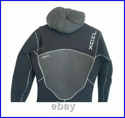 Xcel Mens Full Wetsuit Size Large L Hooded Drylock 5.4 WRF Retail $460