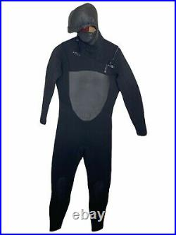 Xcel Mens Full Wetsuit Size XL Hooded Drylock 6.5 MSRP $480