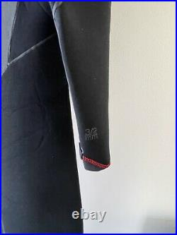 Xcel Mens Size Medium Full Wetsuit 3/2 mm Drylock X Taped Seams Surfing Black