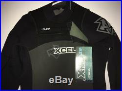 Xcel X-Flex X-Zip Front Zip 3/2 mm Full Wetsuit Size XL Black NWT