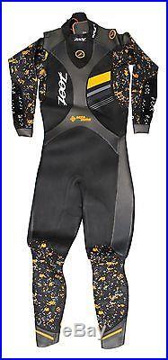 Zoot Men Wave 3 Full Tri Triathlon Multisport Neoprene Wetsuit Medium Black NEW