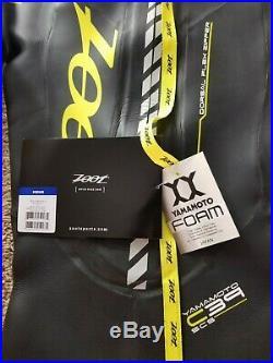 Zoot Men's XS Z Force 3.0 Triathlon Full Wetsuit Black Yellow Yamamoto 39